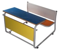 2 Seater Steel Desk Without Shelf