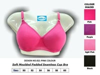 Soft Moulded Padded Seamless Cups Bra