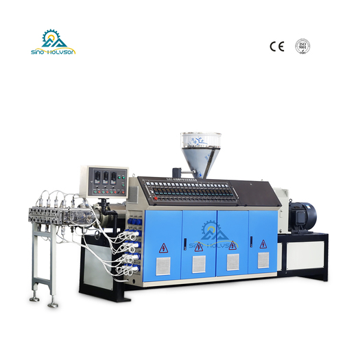 Sjsz-80/156 Conical Double Screw Extruder