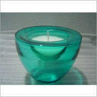 Decorative Candle With Glass Bowl