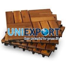12 Slat Acacia Interlocking Deck Tile
