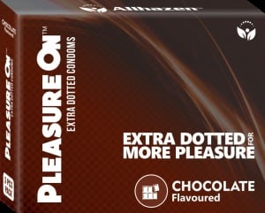 Chocolate Extra Dotted Flavored Condoms