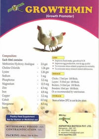 Growthmin Poultry Growth Promoter