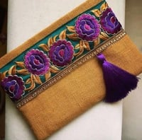 Fashionable Jute Pouch