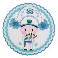 Cartoon And Character Round Shape Rubber Coaster