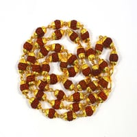 Rudraksha Mala With Gold Plated Cap 54+1 Beads