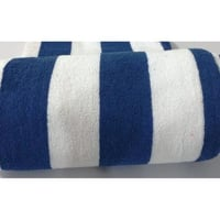 "Bath Towel - Blue Stripe 33"" X 66"""