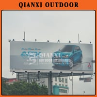 Double Face Steel Structure Outdoor Advertising Supersites