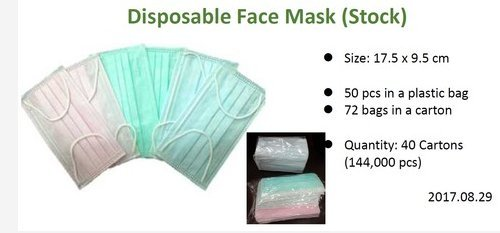 Disposable Face Mask (Stock)