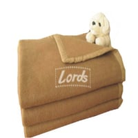 Camel Color Blankets With Four Side Satin Border