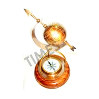 Handcrafted Decorative Globe With Compass