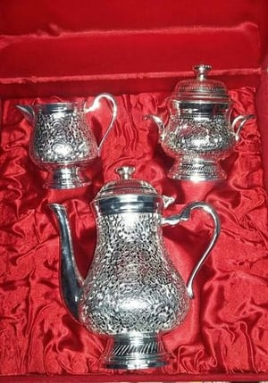 Brass Silver Plated Tea Sets