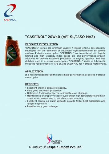 High Quality Lubricant Oil