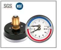 Remote Thermometer With Pressure Gage - High Precision And Durable