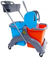 Double Bucket Wringer Trolley With Caddy
