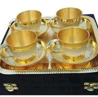 Brass Two Tone Cup Set