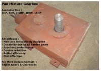 Pan Mixer Gearbox For Fly Ash Machine's Mixture