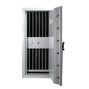 Strong Room Doors with Grill Gate Open