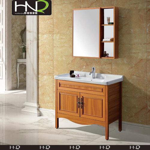 Aluminum Wood Color Bathroom Vanity
