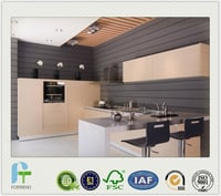 Customized High Quality Melamine Kitchen Cabinet With MDF/Plywood