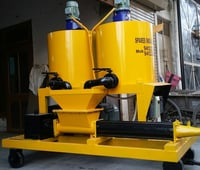 Cement Grout Pump With Double Mixer