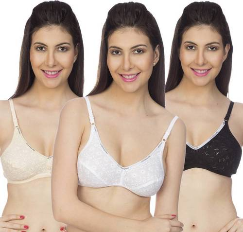 Johnson ACE Women's Minimizer Non Padded Multi Color Bra (Pack Of 3)