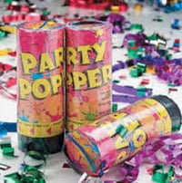 Birthday Party Poppers