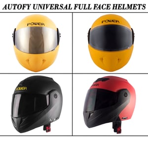Autofy Universal Full Face Helmets For Motorcycle Riders