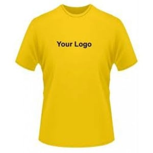 Solid Colored T Shirt With Logo