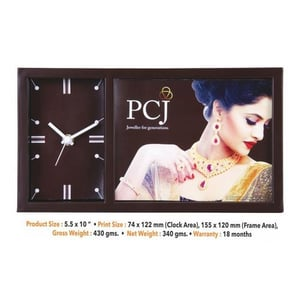 Promotional Table Clock With Photo Frame