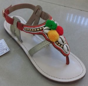 Casual Ladies Flat Leather Sandals