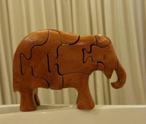 Handmade Intelligent Wooden Animal Puzzle