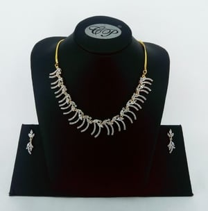 Cz Stone Gold Plated Necklace