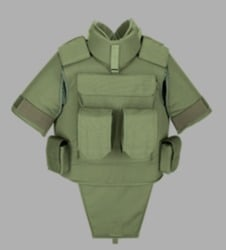 Green Military Over Vests