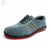 Suede Leather Upper Rubber Outsole Anti-static Safety Work Shoes
