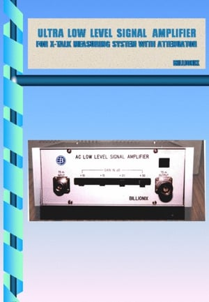 ULTRA LOW LEVEL SIGNAL AMPLIFIER FOR INDUSTRIAL USE