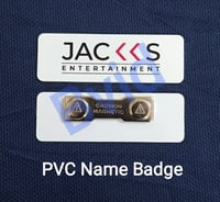 PVC Plastic Name Badges