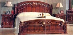 High Quality Curvestyle Bedset With Inlay Work