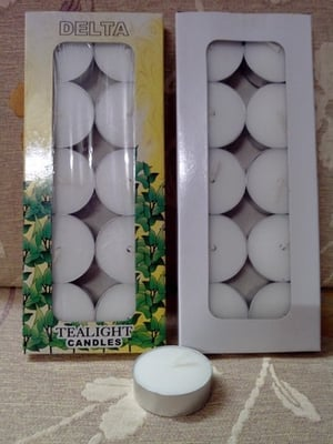 Delta White Tealight Candles