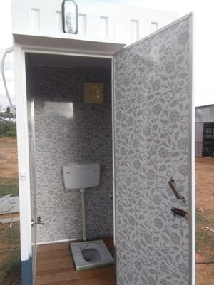 Prefabricated Portable Indian And Western Toilets
