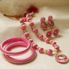 Silk Thread Colored Necklace Set