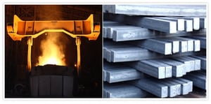 Alloy Caeban and Mild Steel Billets