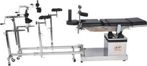 C-Arm Compatible Electric OT Table With Orthopedic Attachment