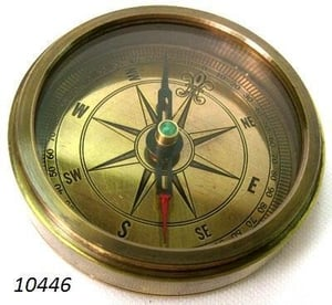 Brass Compass With Antique Look