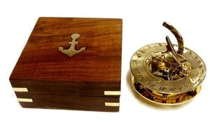 Sundial Compass With Box