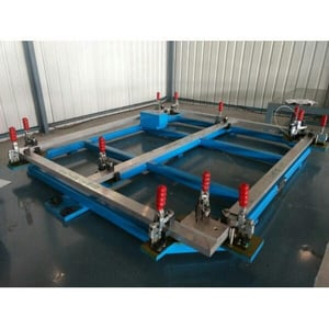 Welding Fixture with Toggle Clamps