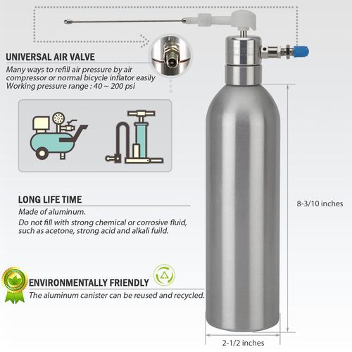 Aluminum Can Pneumatic Refill Pressure Storage Sprayer