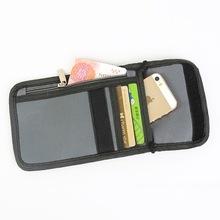 Folding Polyester Passport Holder Zipper