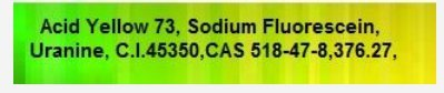 Acid Yellow 73, Sodium Fluorescein, Uranine,C.I.45350,CAS 518-47-8