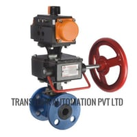 Manual Over Ride for Pneumatic Actuated Ball Valve